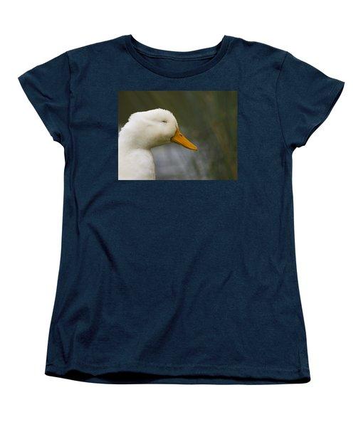 Smiling Pekin Duck Women's T-Shirt (Standard Cut) by Tara Lynn