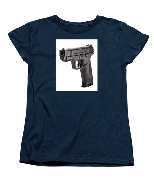 Women's T-Shirt (Standard Cut) featuring the photograph Smith And Wesson Handgun by Andy Crawford