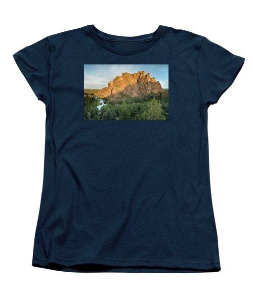 Women's T-Shirt (Standard Cut) featuring the photograph Smith Rock First Light by Greg Nyquist