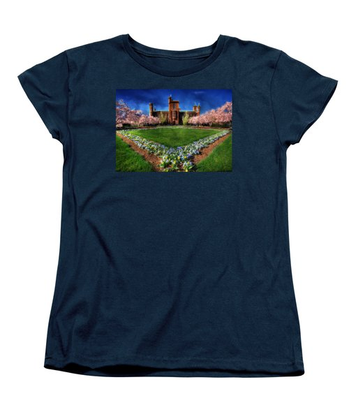 Spring Blooms In The Smithsonian Castle Garden Women's T-Shirt (Standard Cut) by Shelley Neff