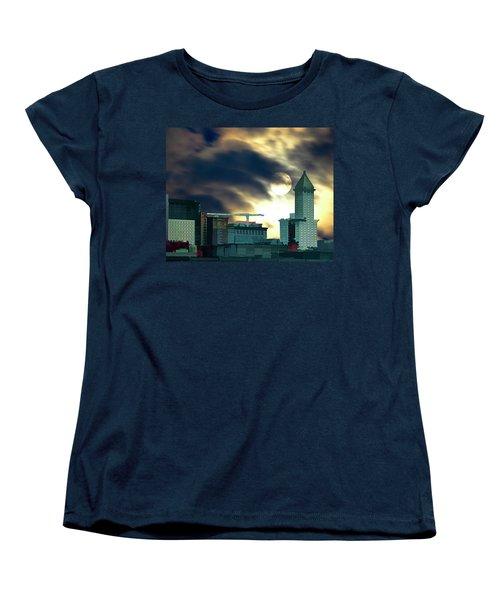 Smithtower Moon Women's T-Shirt (Standard Cut) by Dale Stillman