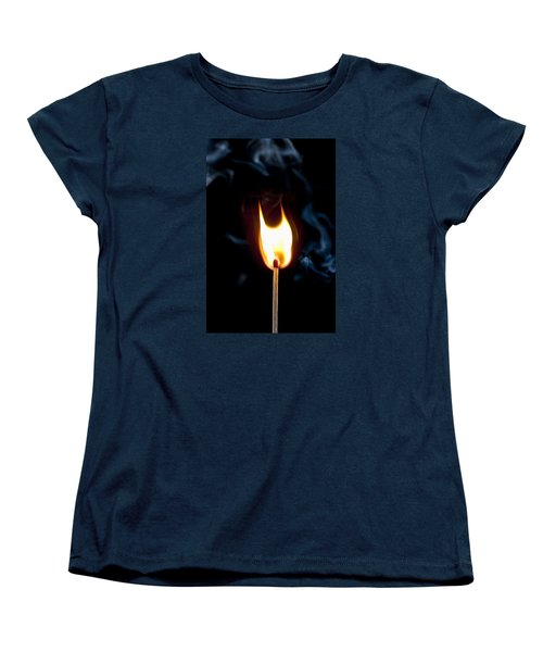 Women's T-Shirt (Standard Cut) featuring the photograph Smoke And Fire by Tyson and Kathy Smith