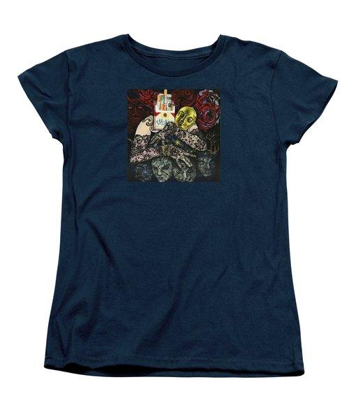 Smoke And Lace Women's T-Shirt (Standard Cut) by Yelena Tylkina