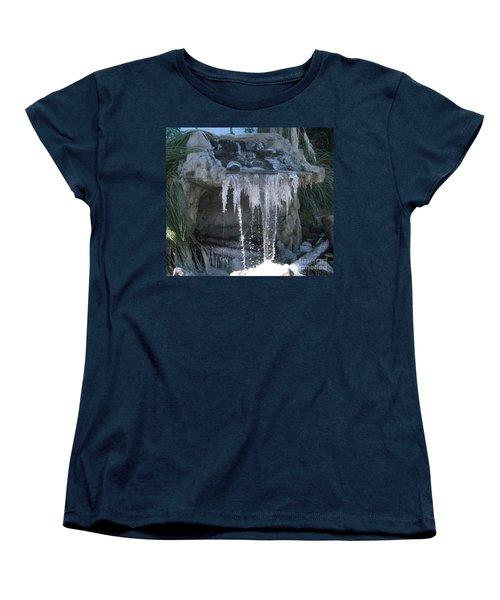 Smokey Stoves Frozen Falls Women's T-Shirt (Standard Cut) by Marie Neder