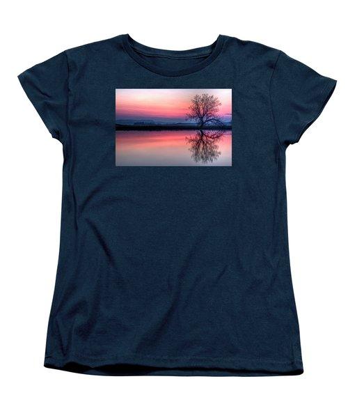 Smoky Sunrise Women's T-Shirt (Standard Cut) by Fiskr Larsen
