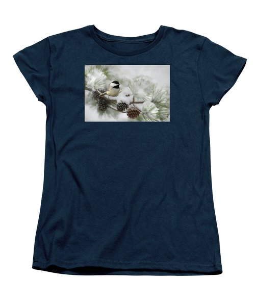 Women's T-Shirt (Standard Cut) featuring the photograph Snow Day by Lori Deiter