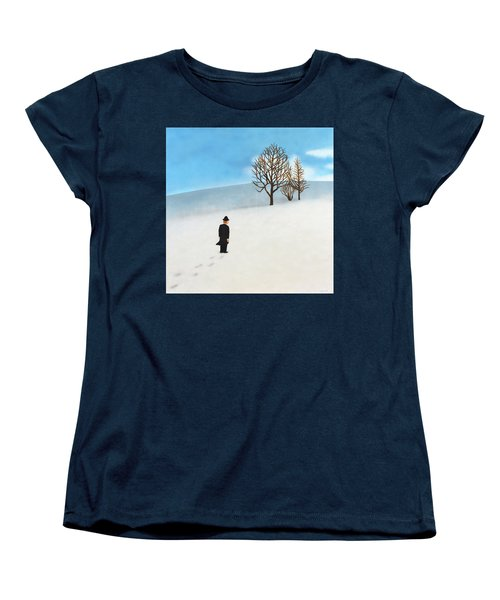 Snow Day Women's T-Shirt (Standard Cut) by Thomas Blood