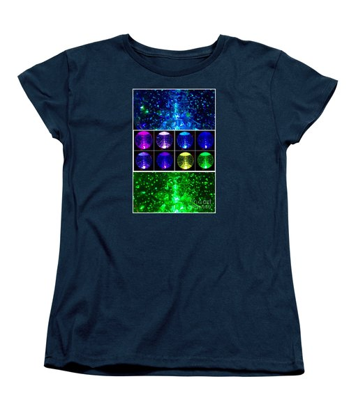 Snow Globe Abstract Women's T-Shirt (Standard Cut) by Patricia E Sundik