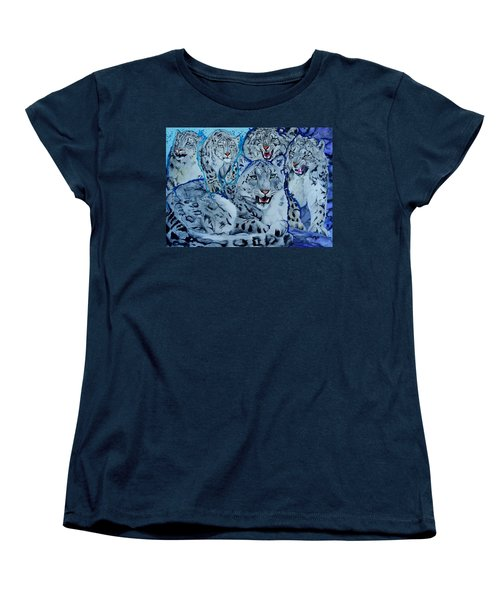 Snow Leopards Women's T-Shirt (Standard Cut) by Raymond Perez
