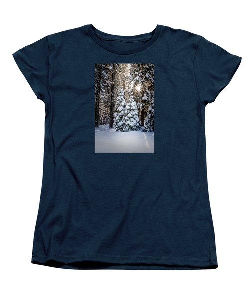 Snow On Spooner Summit Women's T-Shirt (Standard Cut) by Janis Knight