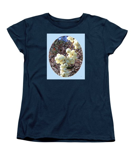 Women's T-Shirt (Standard Cut) featuring the photograph Snowberry Cluster by Will Borden