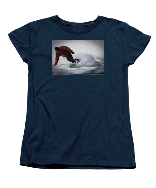 Women's T-Shirt (Standard Cut) featuring the photograph Snowboarder On Mccauley by David Patterson