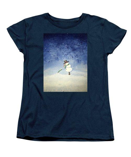 Snowfall Women's T-Shirt (Standard Cut) by Antonio Romero