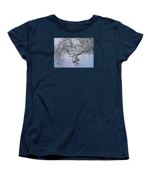 Women's T-Shirt (Standard Cut) featuring the photograph Snowfall by Vladimir Kholostykh