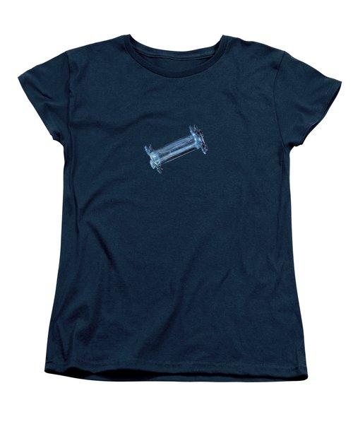 Snowflake Photo - Capped Column Women's T-Shirt (Standard Cut)