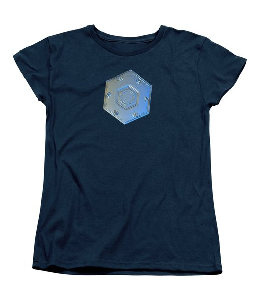 Women's T-Shirt (Standard Cut) featuring the photograph Snowflake Photo - Cryogenia by Alexey Kljatov