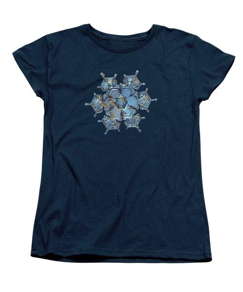 Snowflake Photo - Flying Castle Women's T-Shirt (Standard Cut)