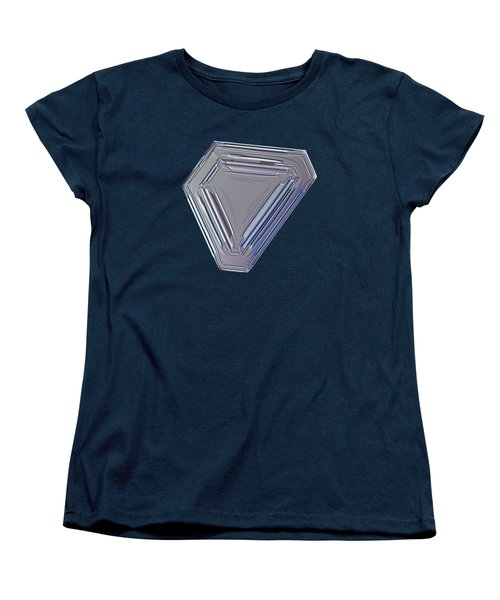 Women's T-Shirt (Standard Cut) featuring the photograph Snowflake Photo - Four Directions by Alexey Kljatov