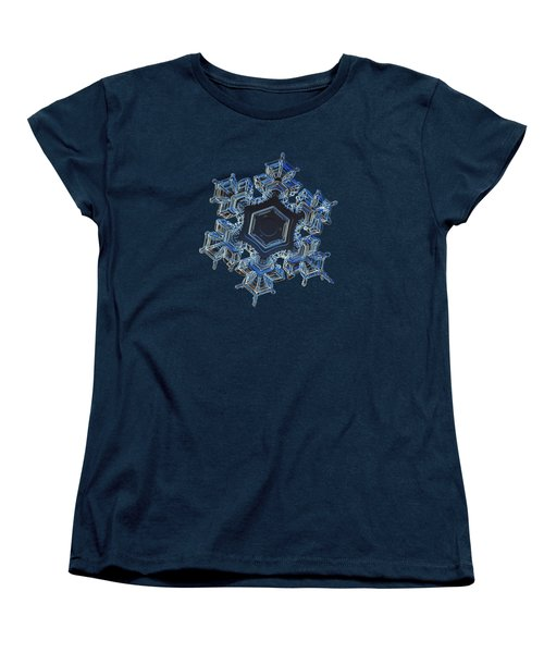 Snowflake Photo - Spark Women's T-Shirt (Standard Cut) by Alexey Kljatov