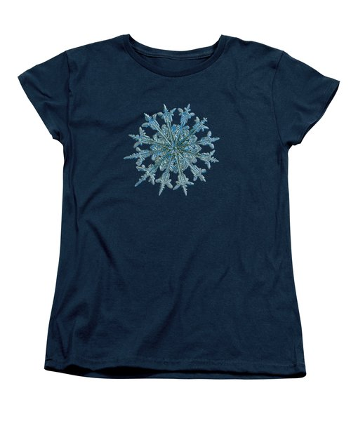 Snowflake Photo - Twelve Months Women's T-Shirt (Standard Cut) by Alexey Kljatov