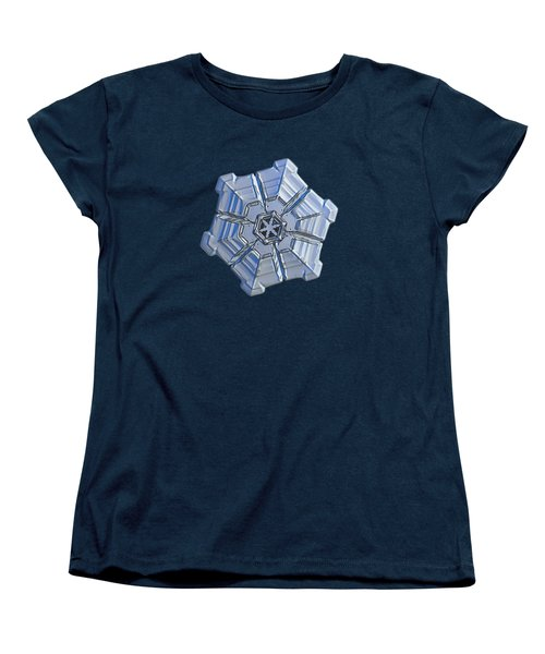 Women's T-Shirt (Standard Cut) featuring the photograph Snowflake Photo - Winter Fortress by Alexey Kljatov