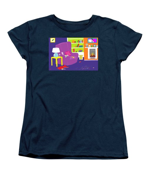 Women's T-Shirt (Standard Cut) featuring the digital art Snowman Party by Barbara Moignard