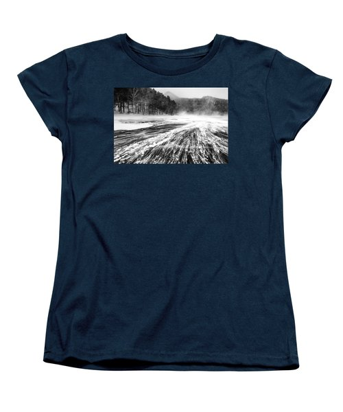 Women's T-Shirt (Standard Cut) featuring the photograph Snowstorm by Hayato Matsumoto