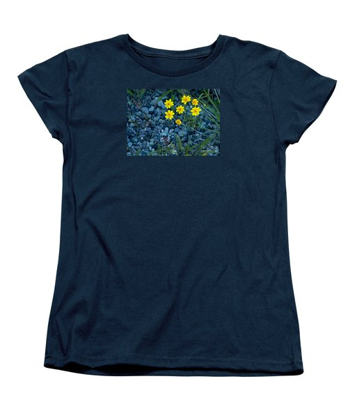 Snowy Goldeneye-#3094 Women's T-Shirt (Standard Cut) by J L Woody Wooden