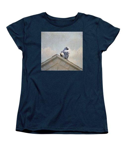 Snowy Owl  Women's T-Shirt (Standard Cut) by Betty Pauwels