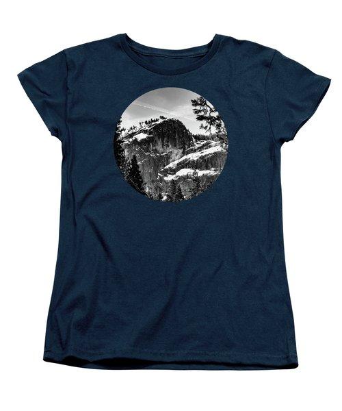 Snowy Sentinel, Black And White Women's T-Shirt (Standard Cut) by Adam Morsa