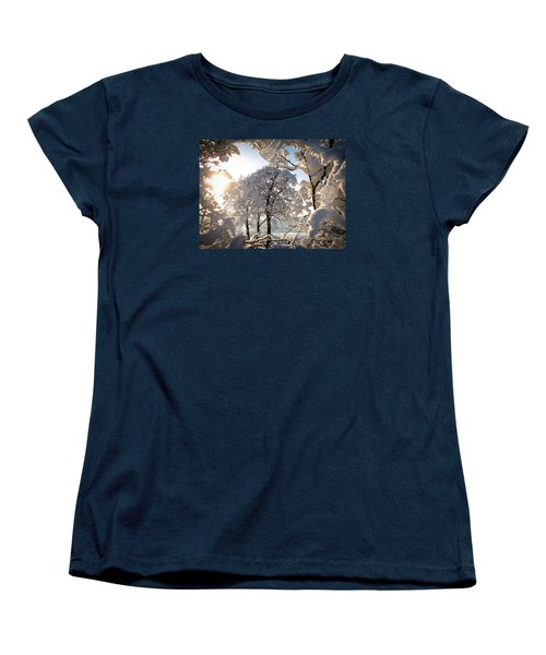 Snowy Trees Women's T-Shirt (Standard Cut) by RKAB Works