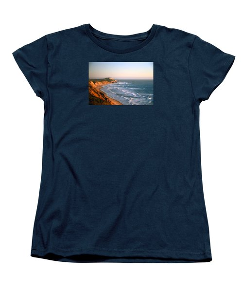 Women's T-Shirt (Standard Cut) featuring the photograph Socal Sunset Ocean Front by Clayton Bruster