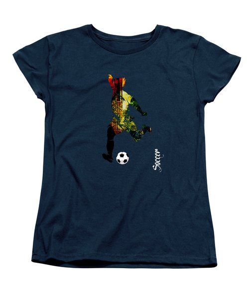 Soccer Collection Women's T-Shirt (Standard Cut) by Marvin Blaine