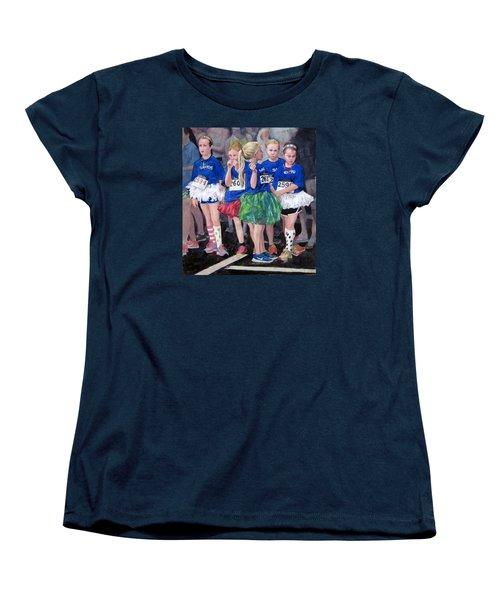 Soccer Girls Women's T-Shirt (Standard Cut) by Mark Lunde