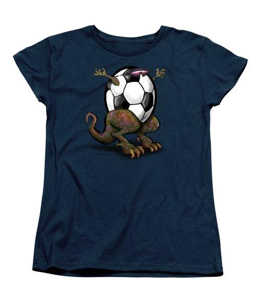 Soccer Zilla Women's T-Shirt (Standard Cut) by Kevin Middleton