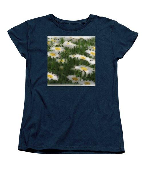 Soft Touch Daisy Women's T-Shirt (Standard Cut) by Debra     Vatalaro