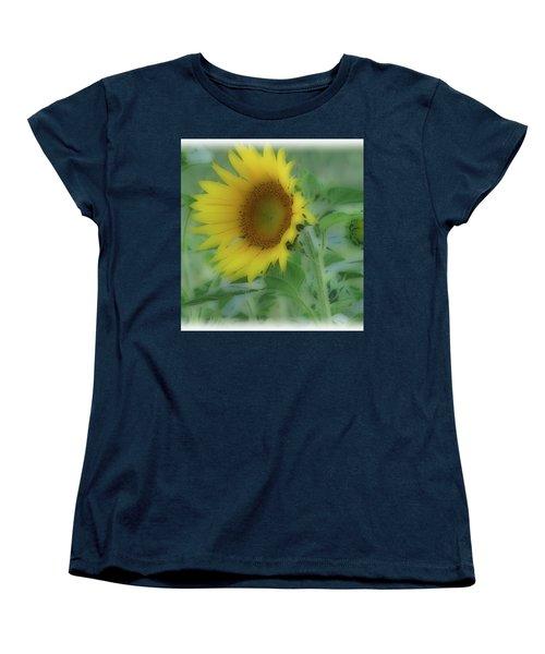 Soft Touch Sunflower Women's T-Shirt (Standard Cut) by Debra     Vatalaro