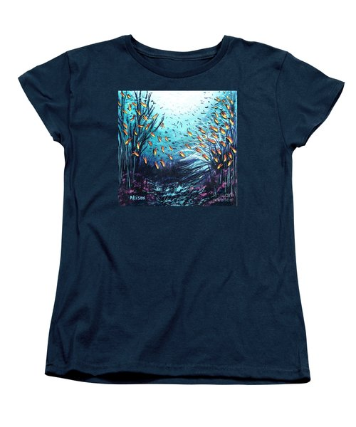 Soldier Fish And Coral  Women's T-Shirt (Standard Cut)