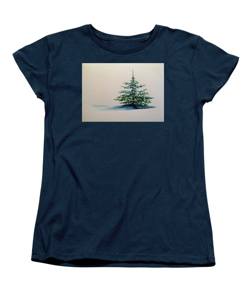 Women's T-Shirt (Standard Cut) featuring the painting Solitude by Wendy Shoults