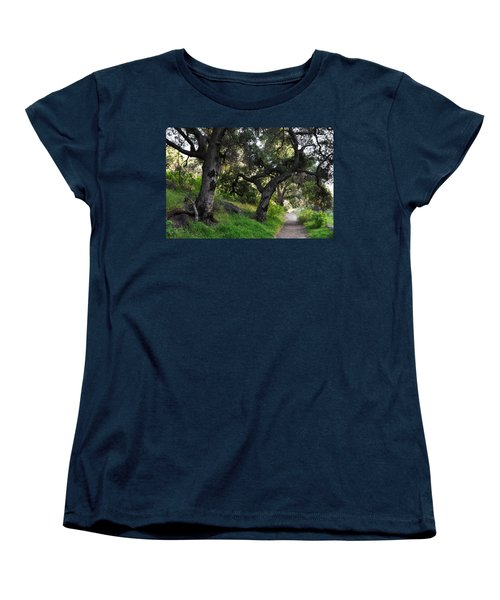 Solstice Canyon Live Oak Trail Women's T-Shirt (Standard Cut) by Kyle Hanson