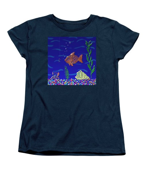 Something Fishy Women's T-Shirt (Standard Cut) by Kevin Caudill
