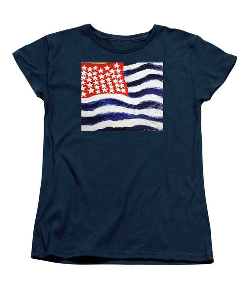 Something's Wrong With America Women's T-Shirt (Standard Cut) by Thomas Blood
