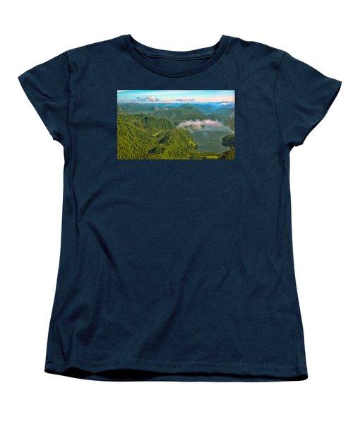 Women's T-Shirt (Standard Cut) featuring the photograph Over Alaska - June  by Madeline Ellis