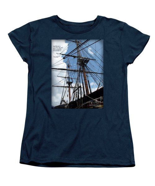 Son Of A Son Of A Sailor Quote - Tribute To The Bounty Women's T-Shirt (Standard Cut) by Joan  Minchak