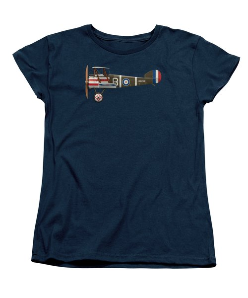 Sopwith Camel - B6299 - Side Profile View Women's T-Shirt (Standard Cut) by Ed Jackson