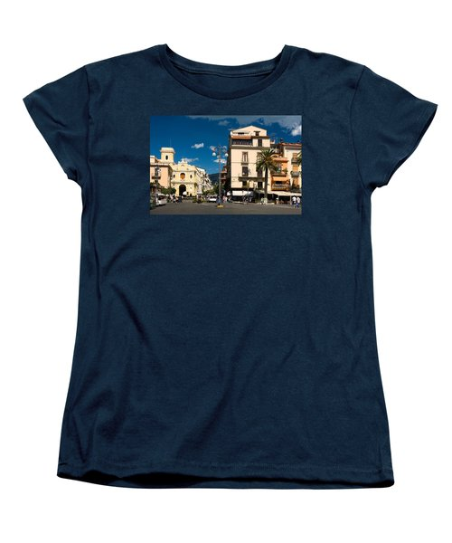 Sorrento Italy Piazza Women's T-Shirt (Standard Cut) by Sally Weigand
