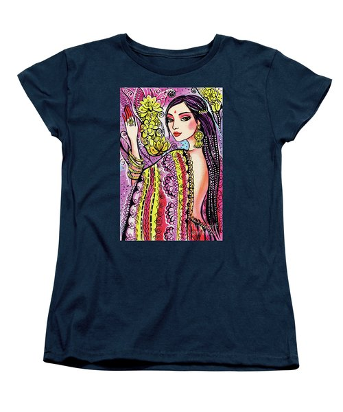 Women's T-Shirt (Standard Cut) featuring the painting Soul Of India by Eva Campbell