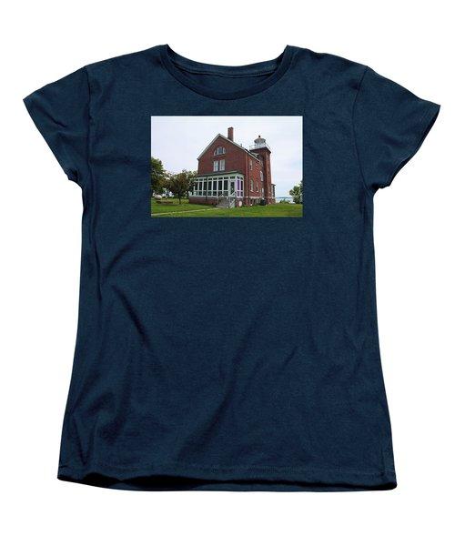 South Bass Island Lighthouse- Horizontal Women's T-Shirt (Standard Cut) by Michiale Schneider