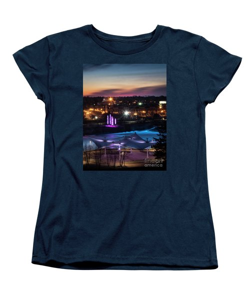 Women's T-Shirt (Standard Cut) featuring the photograph South Bend River Sunrise by Brian Jones