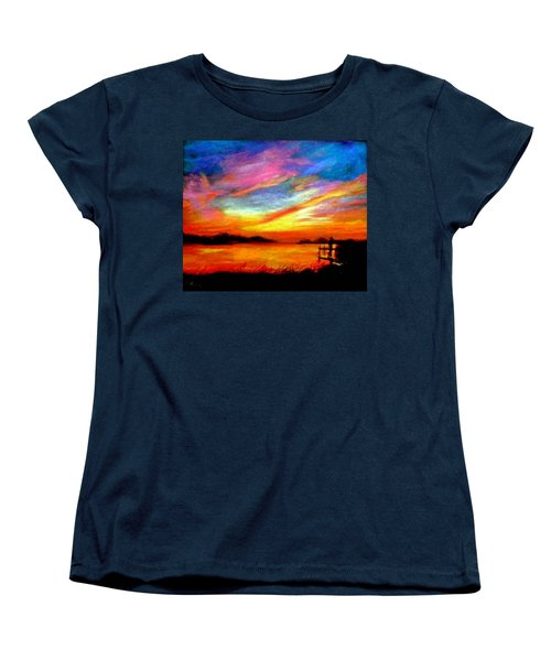 Southern Sunset Women's T-Shirt (Standard Cut) by Gail Kirtz